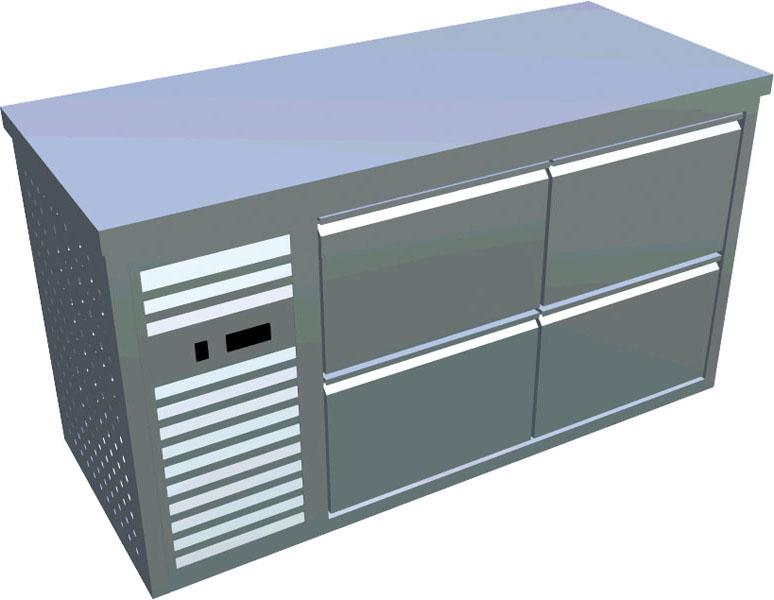 Chladící stůl 4x zásuvka X-CS700-4Z-L